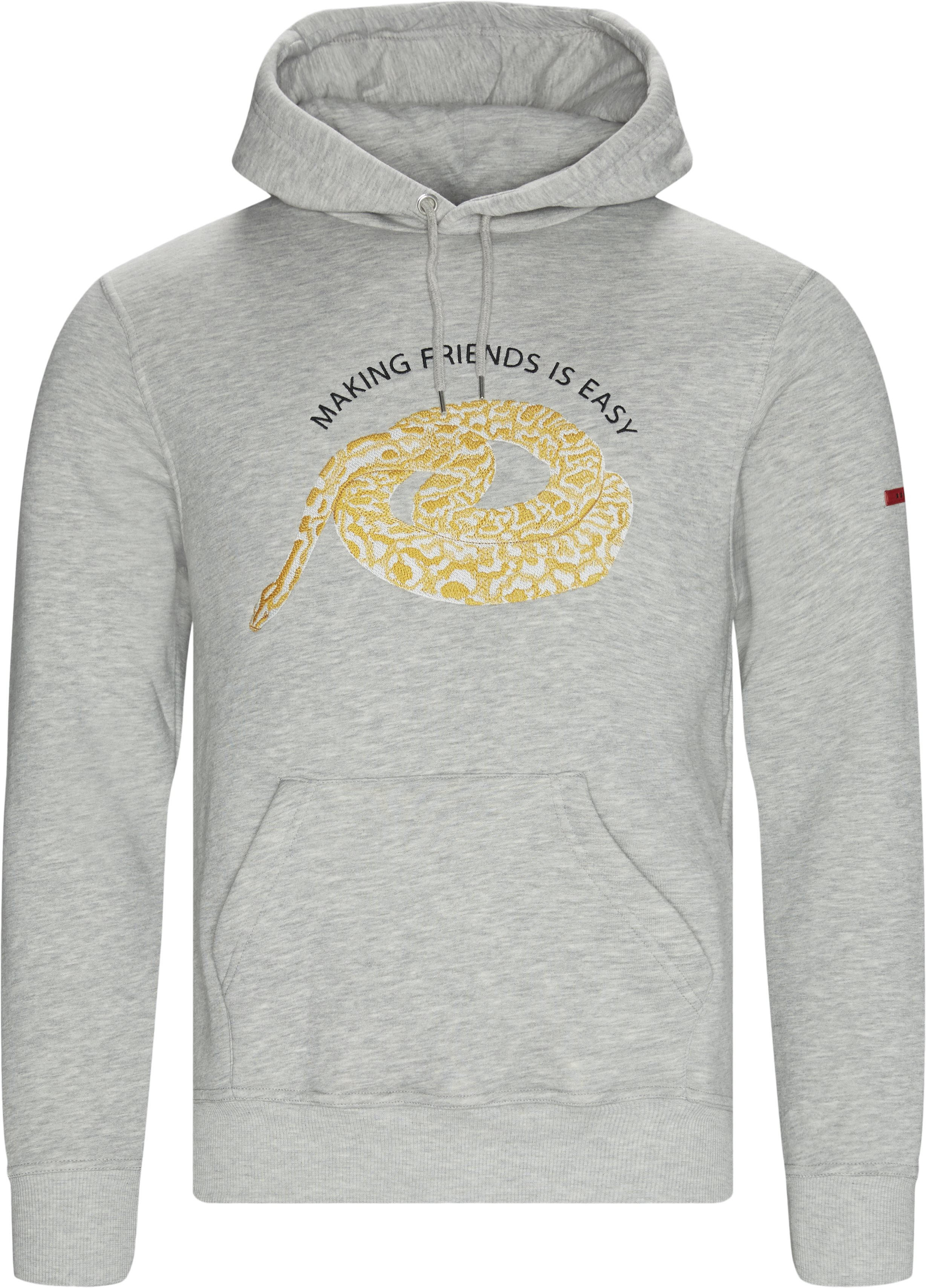 Snake Hoodie - Sweatshirts - Regular fit - Grå